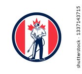 illustration of a canadian...   Shutterstock .eps vector #1337143715