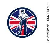 illustration of british worker...   Shutterstock .eps vector #1337143718