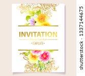 vintage delicate greeting... | Shutterstock . vector #1337144675