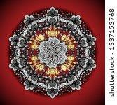 ethnic texture. vector east ... | Shutterstock .eps vector #1337153768