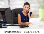 portrait of young secretary... | Shutterstock . vector #133716476