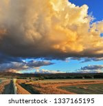 cloud covers over the rural... | Shutterstock . vector #1337165195