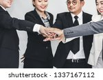 business teamwork concept ... | Shutterstock . vector #1337167112