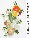 composition of natural organic... | Shutterstock . vector #1337174852