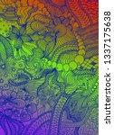hand drawn doodle backdrop... | Shutterstock .eps vector #1337175638