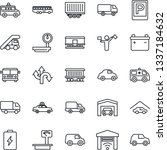 thin line icon set   dispatcher ...   Shutterstock .eps vector #1337184632