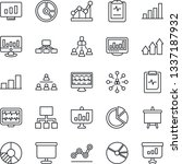 thin line icon set   hierarchy... | Shutterstock .eps vector #1337187932