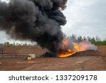 forest fire. illegal burn... | Shutterstock . vector #1337209178