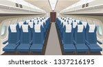 airplane interior design.... | Shutterstock .eps vector #1337216195