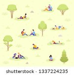 a collection of people on... | Shutterstock .eps vector #1337224235