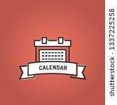calendar line icon set