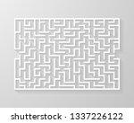 labyrinth maze symbol shape... | Shutterstock .eps vector #1337226122