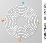labyrinth maze symbol shape... | Shutterstock .eps vector #1337226128