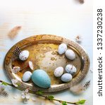 happy easter background  easter ... | Shutterstock . vector #1337230238