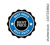 best price emblem  label  badge ... | Shutterstock .eps vector #1337233862