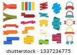 big set of color labels... | Shutterstock .eps vector #1337236775