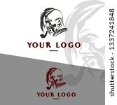 folk cossack illustration logo
