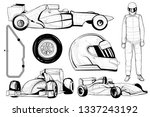 illustration of racing car set... | Shutterstock .eps vector #1337243192