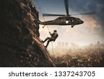 military helicopters and forces ... | Shutterstock . vector #1337243705