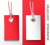 two red and white price tag.... | Shutterstock .eps vector #133724765