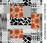 seamless pattern of rectangles... | Shutterstock .eps vector #1337258765