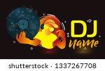 dj logo design. creative vector ... | Shutterstock .eps vector #1337267708