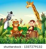 wild animal in nature...   Shutterstock .eps vector #1337279132