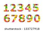 ten digits | Shutterstock . vector #133727918