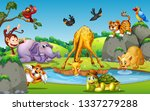 wild animal in forest... | Shutterstock .eps vector #1337279288