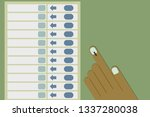 hand casting vote in electronic ... | Shutterstock .eps vector #1337280038