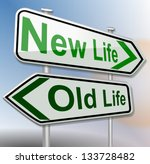 old life new life green | Shutterstock . vector #133728482