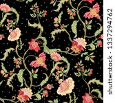 seamless pattern with stylized... | Shutterstock .eps vector #1337294762