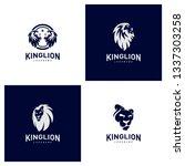 set of lions logo design...   Shutterstock .eps vector #1337303258