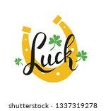 luck word postcard design with... | Shutterstock .eps vector #1337319278
