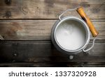 Fresh Milk In A Can. On A...