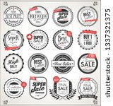 retro vintage badges and labels ... | Shutterstock .eps vector #1337321375