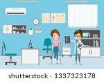 injured female character on... | Shutterstock .eps vector #1337323178