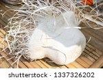 product hat by handmade form... | Shutterstock . vector #1337326202