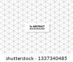 abstract hexagon outlines black ... | Shutterstock .eps vector #1337340485