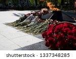eternal fire and flowers....   Shutterstock . vector #1337348285