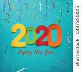happy new year 2020. abstract... | Shutterstock .eps vector #1337350025