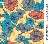 floral background. seamless... | Shutterstock .eps vector #1337354165
