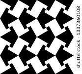 ethnic ornament. mosaic tiles.... | Shutterstock .eps vector #1337360108