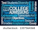 college admissions word cloud... | Shutterstock . vector #1337364368