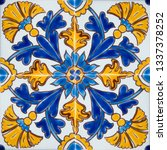 detail of the traditional tiles ... | Shutterstock . vector #1337378252
