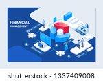 project management financial... | Shutterstock .eps vector #1337409008