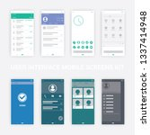 user interface mobile screens...