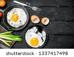 fried egg with green onions and ...