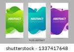 abstract waves fluid liquid... | Shutterstock .eps vector #1337417648
