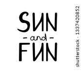 brush lettering composition of... | Shutterstock .eps vector #1337420852